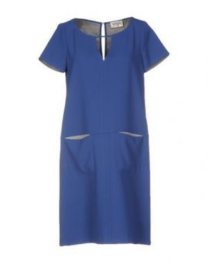 Короткое платье ATOS LOMBARDINI. Цвет: синий