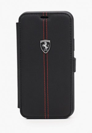 Чехол для iPhone Ferrari 11 Pro, Heritage W Booktype Leather Black. Цвет: черный