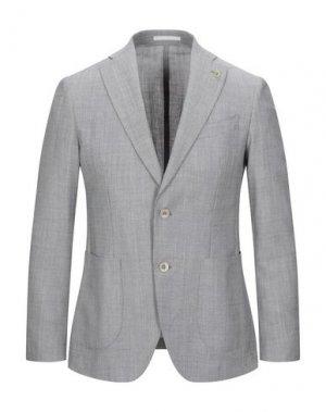 Пиджак CITY TIME. Цвет: серый