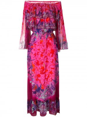 Платье макси Tropic of Neon с ярусными оборками Camilla. Цвет: разноцветный