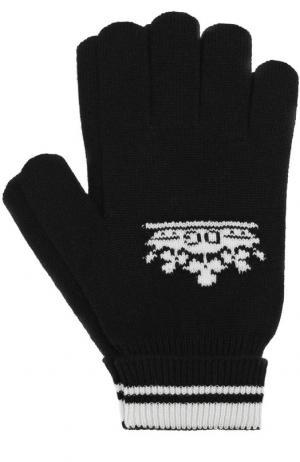 Кашемировые вязаные перчатки Dolce & Gabbana. Цвет: чёрный
