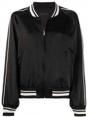 Куртка-бомбер с кантом Undercover. Цвет: черный