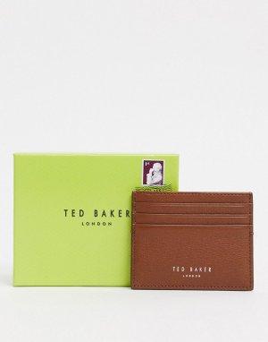 Светло-коричневая кожаная кредитница -Светло-коричневый Ted Baker