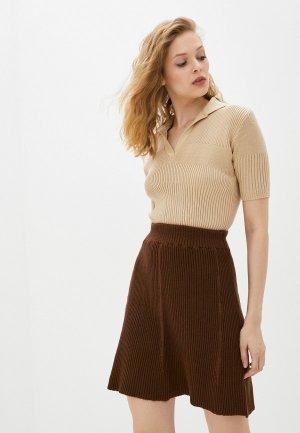 Пуловер Ksi Джемпер поло. Цвет: коричневый