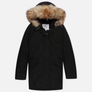 Женская куртка парка Arctic Racoon Fur Woolrich. Цвет: чёрный
