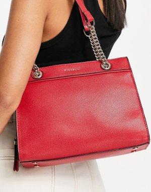Сумка на плечо ярко-красного цвета Hedy-Красный Fiorelli