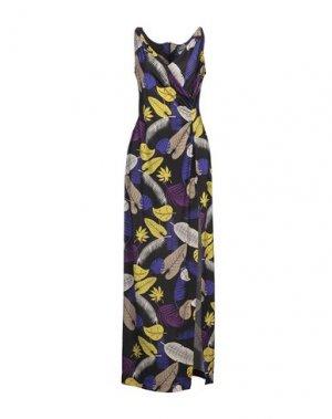 Длинное платье SANDRO FERRONE. Цвет: черный
