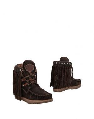Полусапоги и высокие ботинки EL VAQUERO. Цвет: темно-коричневый