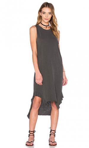 Платье paulina NSF. Цвет: уголь