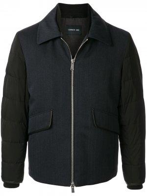 Куртка со стегаными рукавами Cerruti 1881. Цвет: синий