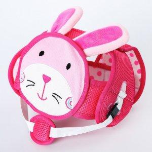 Шапка-шлем противоударный для детей, цвет розовый Крошка Я