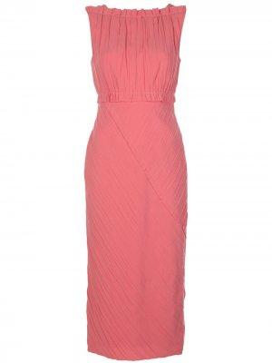 Платье миди без рукавов Jason Wu Collection. Цвет: розовый