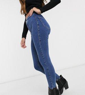 Синие джинсы скинни Petite-Голубой Topshop