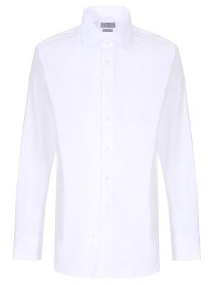 Классическая рубашка Modern Fit CANALI. Цвет: белый