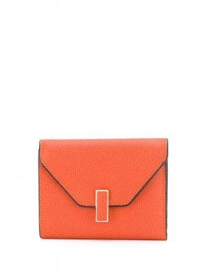 Кошелек-конверт Iside Valextra. Цвет: оранжевый