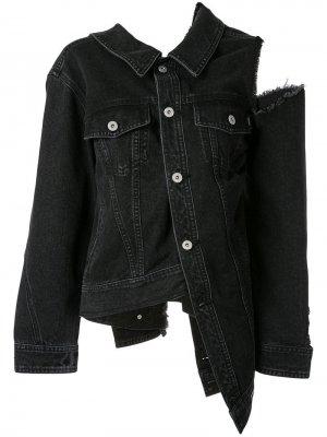 Джинсовая куртка с эффектом потертости Ground Zero