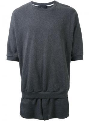 Футболки и жилеты 3.1 Phillip Lim. Цвет: серый
