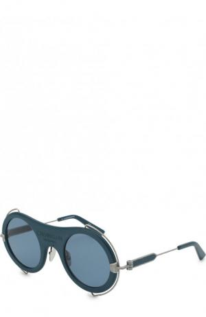 Солнцезащитные очки CALVIN KLEIN 205W39NYC. Цвет: синий