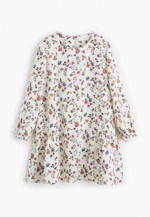 Платье Mango Kids - SOL. Цвет: белый