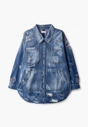 Куртка джинсовая Faith Connexion. Цвет: синий