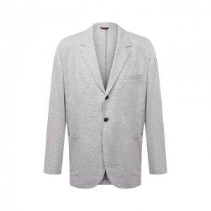 Кашемировый пиджак Brunello Cucinelli. Цвет: серый
