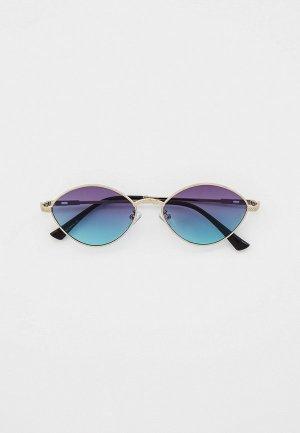 Очки солнцезащитные Bocciolo. Цвет: серебряный