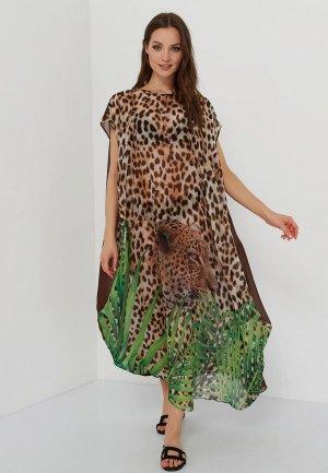 Платье пляжное Galaberano. Цвет: коричневый