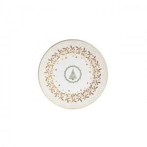 Тарелка салатная Noel Blanc Bernardaud. Цвет: золотой
