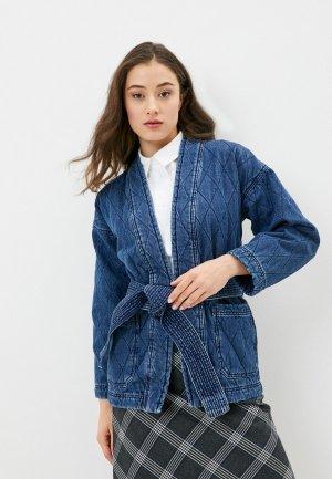 Куртка джинсовая Marks & Spencer PER UNA. Цвет: синий