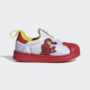 Кроссовки-слипоны Superstar 360 Originals adidas. Цвет: красный