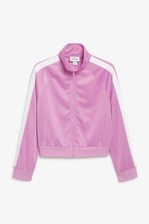Олимпийка Monki. Цвет: розовый