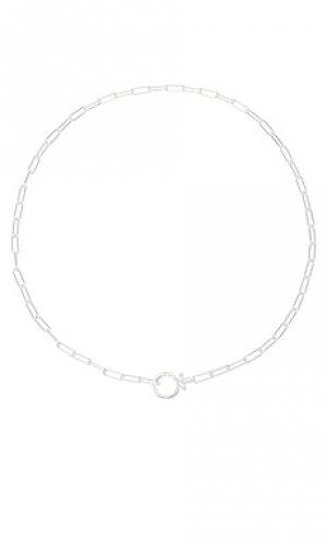 Ожерелье parker gorjana. Цвет: металлический серебряный