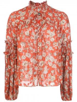 Блузка Zaria с цветочным принтом Alexis. Цвет: красный