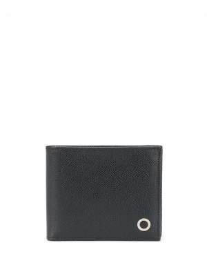 Фактурный кошелек Bvlgari. Цвет: черный