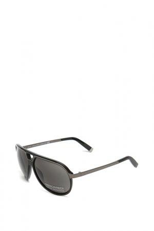 Очки солнцезащитные с линзами DSQUARED. Цвет: 01a черный, серый металлик