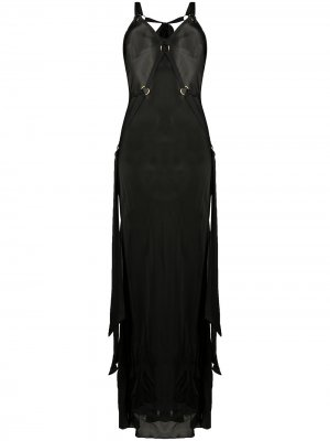 Платье миди с портупеей Bordelle. Цвет: черный