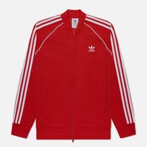 Мужская олимпийка Adicolor Classics Primeblue SST adidas Originals. Цвет: красный