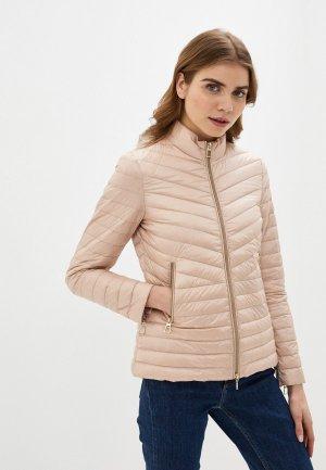 Куртка утепленная Geox. Цвет: бежевый