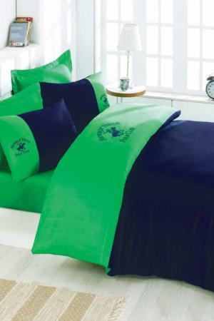 Постельное белье 2 сп., 50х70 см Beverly Hills Polo Club. Цвет: green, dark blue