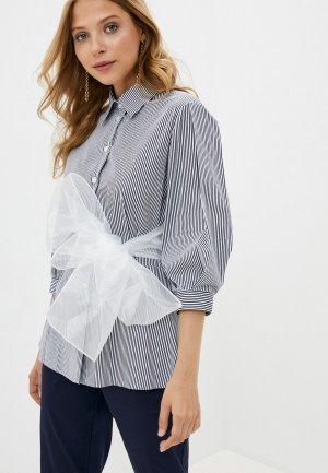 Блуза Lusio. Цвет: синий