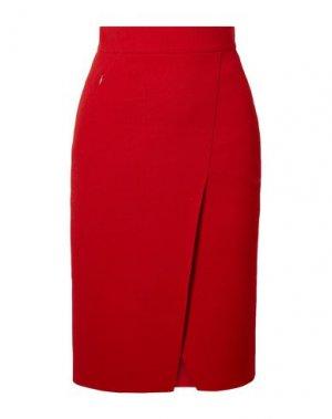 Юбка до колена AKRIS. Цвет: красный