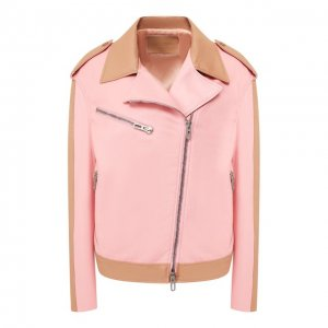 Кожаная куртка DROMe. Цвет: розовый