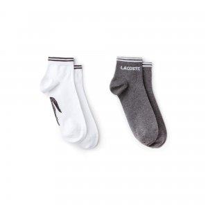 Носки Lacoste. Цвет: серый