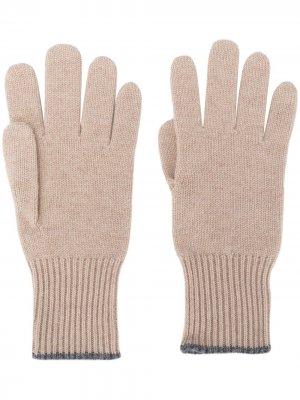 Перчатки тонкой вязки Brunello Cucinelli. Цвет: нейтральные цвета