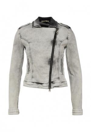 Куртка джинсовая Patrizia Pepe. Цвет: серый