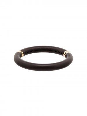Чокер-кольцо Bottega Veneta. Цвет: коричневый