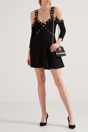 Платье с большими люверсами Philipp Plein. Цвет: черный