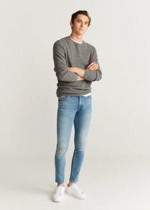 Нарочно рваные джинсы-скинни - Dylan Mango. Цвет: зеленая мята