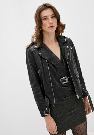 Куртка кожаная Iro. Цвет: черный