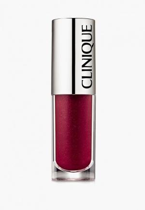 Блеск для губ Clinique Pop Splash lip gloss + hydration, 14 Fruity Pop03 Sorbet Pop, 4.3 мл.. Цвет: бордовый